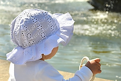 Detské čiapky - Detský klobúčik madeira kvety - 12105333_