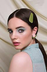 Ozdoby do vlasov - Sponky °Rainbowl (Zelená) - 12103985_