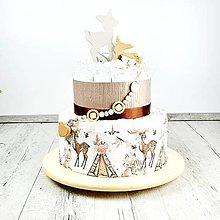 Detské doplnky - Plienková torta Bambi - 12104005_
