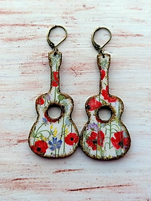 Náušnice - náušničky makové gitarky - 12103440_