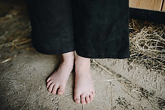 Detské oblečenie - KIARA nohavice čierne - 12108071_