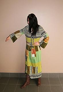 Šaty - lel,hippie plus size maxišaty+ kapsa - 12106513_
