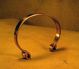 Náramky - keltský medený náramok - 12106122_