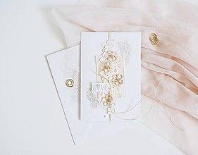 Papiernictvo - Svadobný pozdrav - rozsypané kvietky - 12107114_