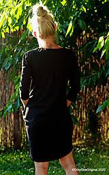 Šaty - Dámske šaty mini, oversize, šité, maľované, etno DUNA - 12105808_
