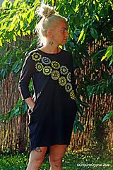 Šaty - Dámske šaty mini, oversize, šité, maľované, etno DUNA - 12105809_