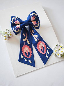 Iné doplnky - Dámska mašľa modro-ružová - 12107042_