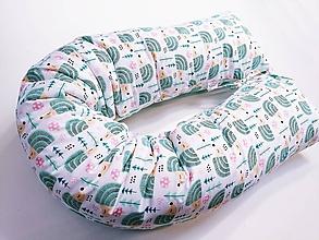 Textil - Tehotenský vankúš / Vankúš na dojčenie mentoloví ježkovia - 12108771_
