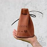 Peňaženky - Veľký kožený mešec na 300 mincí s menami - 12110081_
