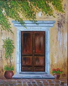 Obrazy - Tajomné dvere - 12110083_