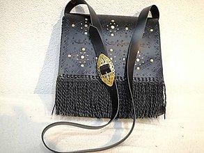 Tašky - panská kožená kapsa zdobená - 12110417_