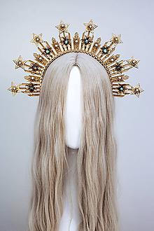 Ozdoby do vlasov - Mesačná Halo crown s hviezdičkami - 12111006_
