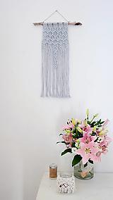 Dekorácie - Macramé dekorácia - Úspech šedá - 12108922_