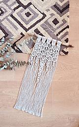 Dekorácie - Macramé dekorácia - Úspech šedá - 12108924_