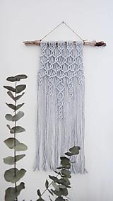 Dekorácie - Macramé dekorácia - Úspech šedá - 12108926_