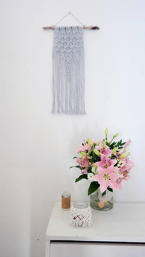 Macramé dekorácia - Úspech šedá