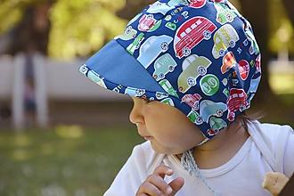 Detské čiapky - Baby čepiec autíčka - 12111106_
