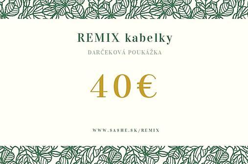Darčeková poukážka 30€ - 70€