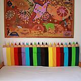 Úžitkový textil - Zástena Ceruzky progressky 5cm hrubá  (vrecko š.30 x v.25 cm) - 12110858_