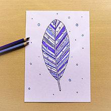 Papiernictvo - Pohľadnica pierko - rosa - 12110176_