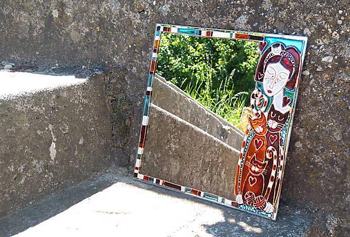 zrkadlo - mačacia paní
