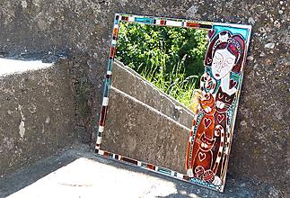 Zrkadlá - zrkadlo - mačacia paní - 12112152_