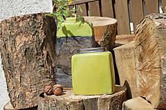 Dekorácie - Váza vysoká bronzová a bronzovo zelená -SET - 12113796_