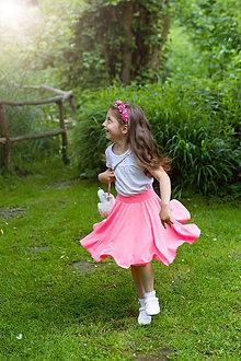 Detské oblečenie - Neón kruhová sukňa - 12112977_