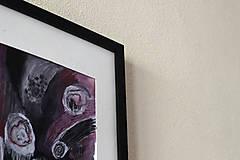 Obrazy - pomoc . akvarel a akryl . kombinovaná technika na výkrese . A4 - 12113196_