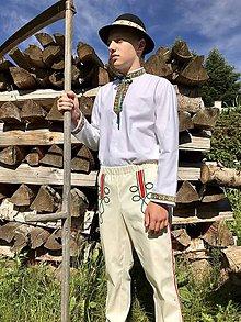 Oblečenie - Pánsky folklórny komplet košele a nohavíc zelený - 12113653_