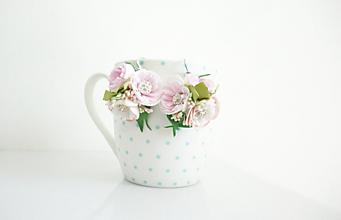 Náušnice - Drobné kvetinové náušnice(svadobné) - 12113039_