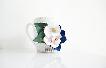 Ozdoby do vlasov - Hrebienok do vlasov s maľovanými kvetmi - 12113053_