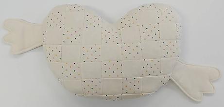 Textil - Vankúšik pre bábätko patchwork biobavlna - 12111870_