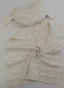 Textil - Dečka a vankúšik pre bábätko patchwork biobavlna - 12111881_