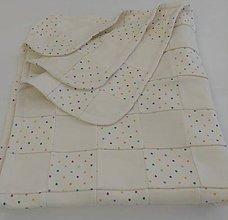 Textil - Dečka pre bábätko patchwork biobavlna - 12111963_