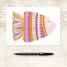 Papiernictvo - Relaxačná obrysovka ryba 3 - 12111899_