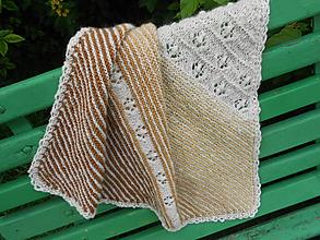 Textil - Pletená detská deka z ručne pradenej vlny - 12114132_