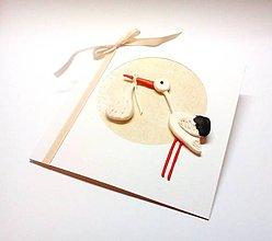 Papiernictvo - Pohľadnica ... priletel bocian - 12116422_