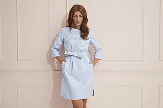 Šaty - Košeľove šaty s prúžkami - 12116306_