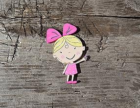 Dekorácie - dievčatko s motýľom - 12114332_