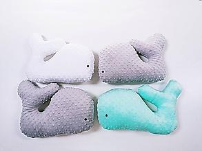 Textil - Minky vankúšik - veľryba - 12115336_