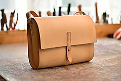 Kabelky - kožená kabelka RONDIE prírodná - 12115689_