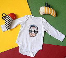 Detské oblečenie - Detské bavlnené body dlhý rukáv - OčiPuči Baby Čiko - 12115667_