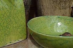 Nádoby - Miska zelená, kraklovaná III. - 12113908_