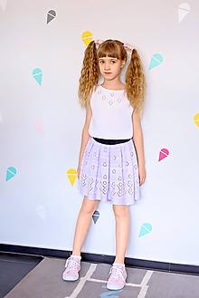 Detské oblečenie - Sukňa, Lola, OEKO-TEX®, lila melír - 12115422_
