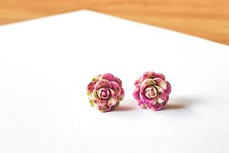 Náušnice - Ružičky napichovačky 5 (1,4cm) - 12114398_
