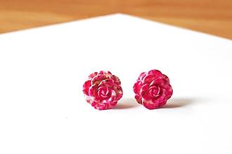 Náušnice - Ružičky napichovačky 6 (1,4cm) - 12114399_