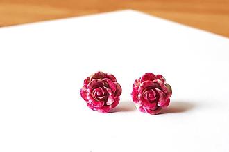 Náušnice - Ružičky napichovačky 7 (1,4cm) - 12114400_