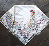Čas na vzlietnutie- folková obrysová hodvábna šatka