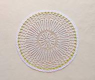 Úžitkový textil - Háčkovaná dečka Nežné kvietky - 12115415_